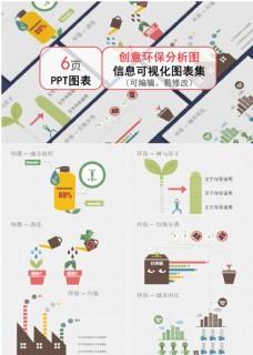 通用創意環保分析圖ppt圖表合集
