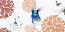 清新手绘花卉海报背景
