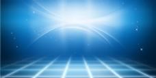 简约蓝色未来科技光感线条海报背景