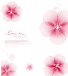简洁大气粉色花朵移门