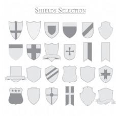 金属盾牌徽章