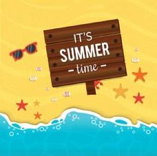 夏季海滩图标