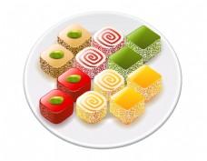 卡通彩色甜品元素