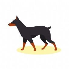 矢量手绘卡通动物狗