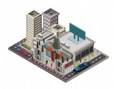 卡通城市建筑元素