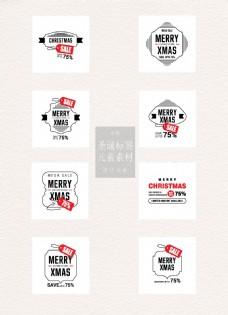 时尚的圣诞节标签素材
