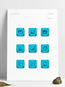 九款手机相册应用UI图标