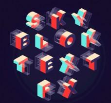 3D字母模型