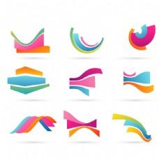 七彩波浪标志
