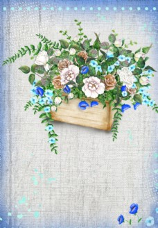 森系花篮花卉素材