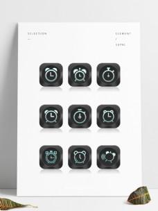 九款手机时钟闹钟APP应用图标