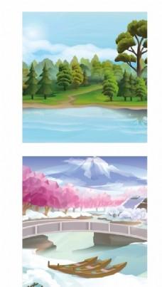 自然风景插画