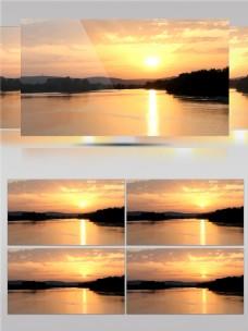红树林海边日落唯美景色视频素材