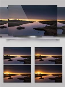 岛屿日落时分唯美景色视频素材