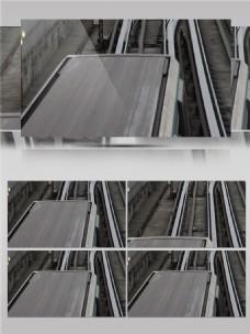 城市道路交通铁轨实景拍摄