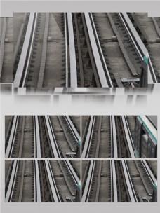 城市铁路轨道实景拍摄