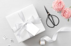 现代婚礼婚庆卡片智能贴样机分层