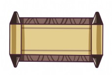 手绘古风卷轴插画