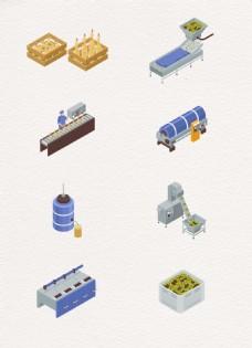矢量橄榄油生产设备设计