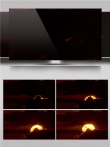 穿过云层缓缓升起的太阳视频音效