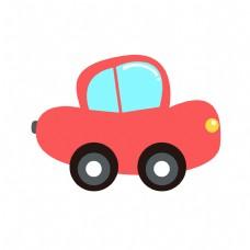 红色的玩具汽车插画