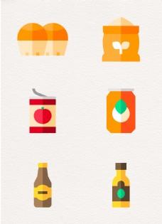 简洁扁平化食物食品元素设计
