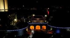 惠州延时航拍夜景朝京门
