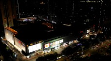 惠州延时航拍CBD华贸天地夜景