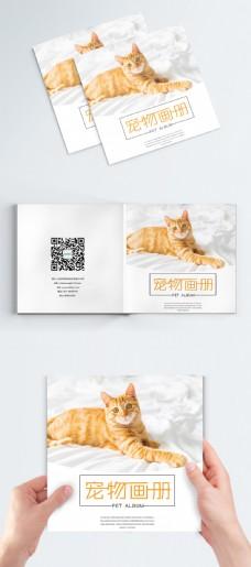 时尚简约宠物画册封面