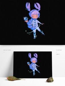 手绘天蝎座男孩漫画人物设计可商用元素图片