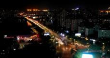 惠州延时航拍东江大桥夜景