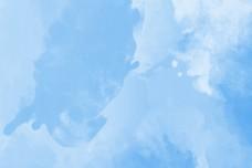 蓝色手绘水彩水墨海报背景
