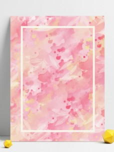 花海印象粉色水彩泼墨背景
