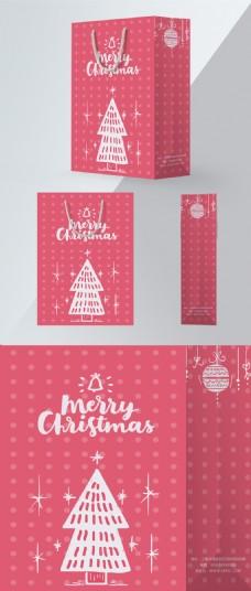 粉色圣诞节手提袋
