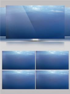 唯美蓝色平静海面视频音效