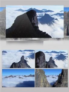 宏伟的冰川景色视频音效
