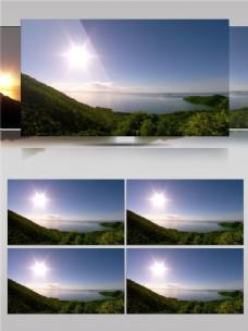 山林里的日出风光视频音效