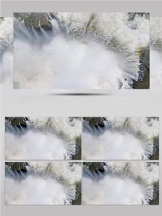 瀑布水流河流水流瀑布川流不息视频音效