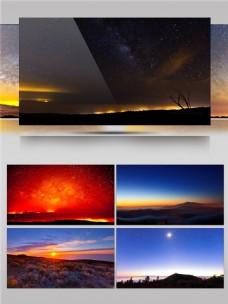 大自然日出日落自然象征视频音效