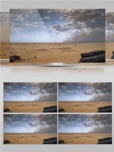 辽阔无人的沙漠区视频音效