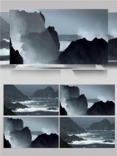 澎湃的海面景色视频音效