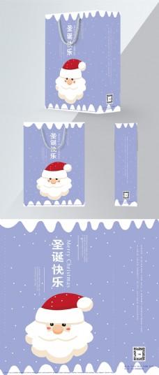 清新雪景圣诞手提袋