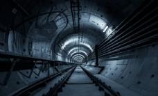 科技感创意炫酷金属隧道背景墙