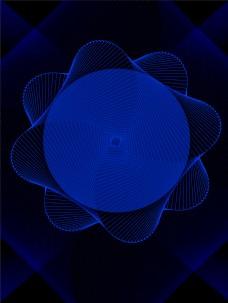 神秘蓝色智能科技背景