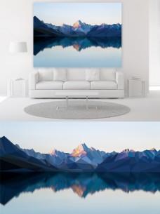 现代简约几何风山水抽象装饰画