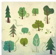 自然綠色樹木
