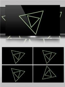 大小三角形套环动画素材
