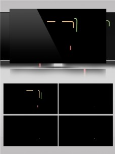 线条图形变化动画视频素材