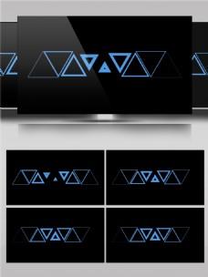 三角形颠倒动态动画视频素材