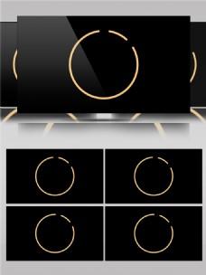 图形线条圆形动感动画视频素材